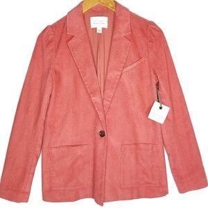 NWT Hinge Pink Cedar Corduroy Blazer 100% Cotton S
